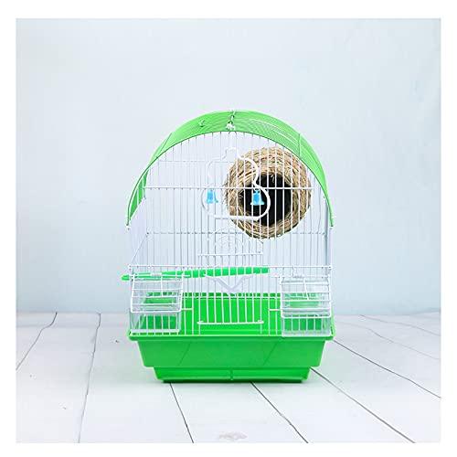 Hong Yi Fei-Shop Jaula Pájaros Jaula de pájaro Externo Loro Starling Thrush mynah Acacia pájaro Jaula pájaro Nido de pájaro Grande Jaula Jaula (Color : Green, Size : C)