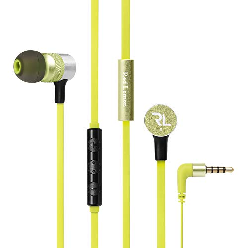 Red Lemon Sur Plus W120+ Wired in-Ear Super Bass Headphone with Mic (Lime Green)