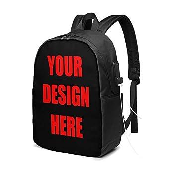 Custom Laptop Backpack Photo Printed Travel Shoulder Backpack with USB Charging Port