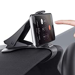 Fast and Easy Operation: The Car Phone Mount can fix stably by clipping the edge on the dashboard then fasten the phone in front of the driver without blocking of sight. Durable and Guarantee: The Car Mount is made of ABS material, durable, flexible ...