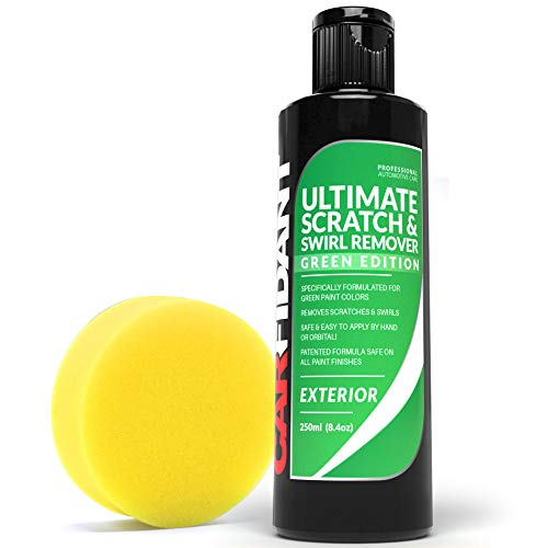 Carfidant Green Car Scratch Remover  Ultimate Scratch and Swirl Remover for Green Color Paints  Polish amp Paint Restorer  Easily Repair Paint Scratches Scratches Water Spots Car Buffer Kit