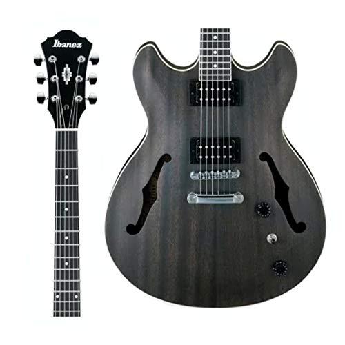 Ibanez AS53-TKF E-Gitarre (Semiakustik Gitarre, Transparent Black Flat, Sapeli Korpus und Decke, 2 Humbucker)