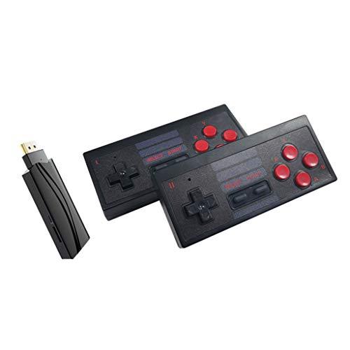 certylu Consola de Videojuegos Construido en 628 Juegos clásicos Controlador inalámbrico Jugadores duales 15.3x9x6cm