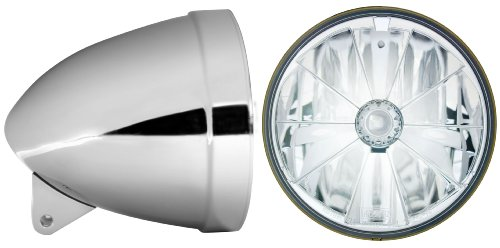 adjure hb71010–77'Ventura Highway cromo Combo motocicleta faros delanteros de cubo con t70700pie lámpara de corte y H4bombilla