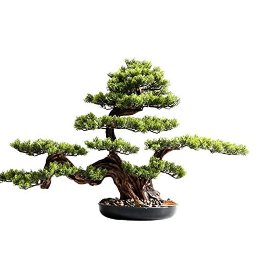 Bonsai artificiale Bonsai Tree, piante finte in ceramica albero in vaso in ceramica artificiale cedro Bonsai decorazione albero per ufficio scrivania ufficio interno / all'aperto albero dei bonsai fin