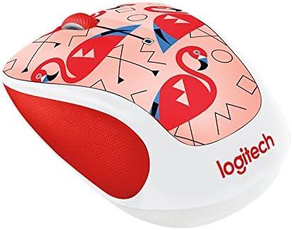Logitech - M325c Wireless Optical Mouse - Flamingo