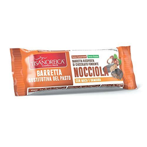 Gianluca Mech - Barretta Sostitutiva del Pasto al Gusto Nocciola - 2 Confezioni da 60 gr