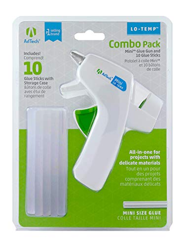 Ad-Tech Low Temp Mini Hot Glue Gun Combo Pack, White