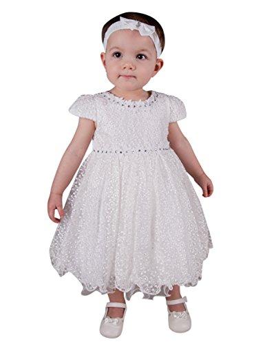 Boutique-Magique Robe de baptême Blanche pour bébé ou Petite Fille