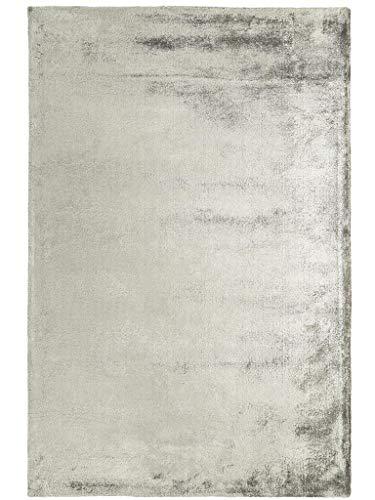 benuta Teppich Dolce Viscose Grau 120x180 cm   Teppich für Wohn- und Schlafzimmer