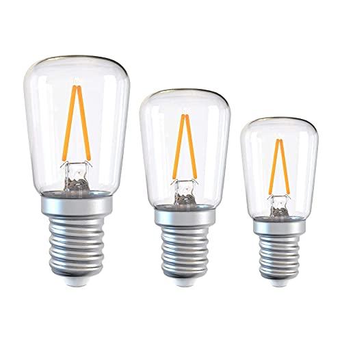 LED-lampa, saltlampa, spisfläktar 1,5W, 3-pack, 6000K kallvit, E14 skruva in glödlampor
