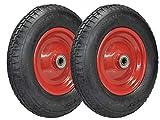 Juego de 2ruedas para carretilla–Rueda para neumáticos 4.80/4.00–8luftbereift en Llanta de acero