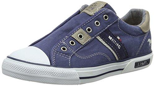 Mustang Unisex-Kinder 5046-401-800 Slip On Sneaker, Blau (dunkelblau), 34 EU