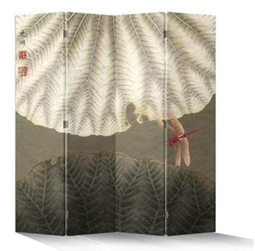 Fine Asianliving Paravent Raumteiler Trennwand Spanische Wand Raumtrenner Sichtschutz Japanisch Orientalisch Chinesisch L160xH180cm Bedruckte Canvas Leinwand Doppelseitig Asiatisch -203-157