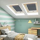 57x100cm Verdunkelungsrollo Dachfenster Thermosrollo für Velux Gardinen Blickdicht Rolle ohne Bohren Sonnenschutz Verdunkelungsvorhang für Zuhause Büro (grau) - 3