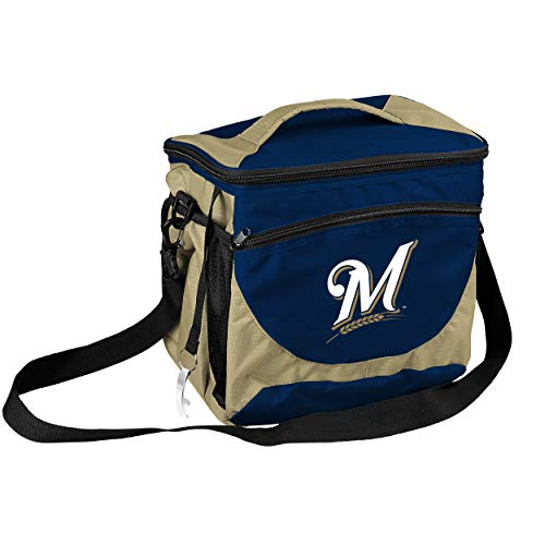 logobrands MLB Milwaukee Brewers 24 Can Cooler, Navy (516-63)