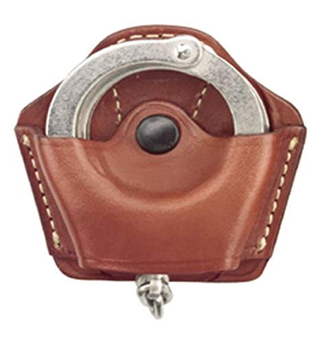 Gould & Goodrich 840 Gold Line Handcuff Case With Belt Loop (Chestnut Brown) Holds most chain or hinged cuffs.