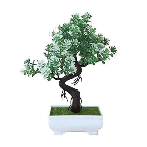 Kunstmatige plant van kunststof, kunstbloemen, aquariumdecoratie, accessoires voor aquarium, bodem voor vissen van kunststof, bloem, voor huis, decoratie, groene plant, kunstbloemen, decoratie Groen wit