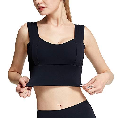 N /C Sujetador deportivo para mujer con cuello largo acolchado para el tanque de yoga, para entrenamiento, correr, yoga