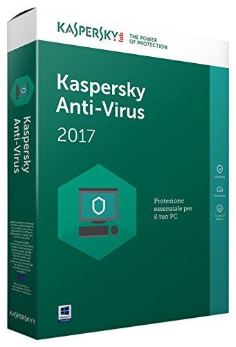 KASPERSKY ANTIVURUS 2017 Full Box 1 User 1 Anno