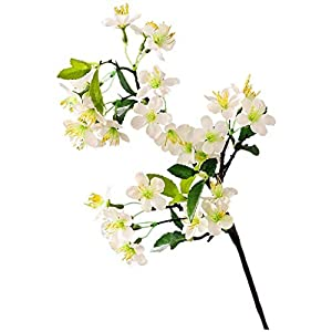 Silk Flower Pear Flower Imitation Flower Can Be Checked Vase Fake Gardenia Overall Artificial Flower Orange Flower (Color : White)