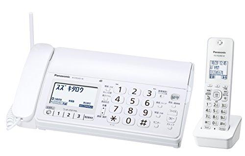 パナソニックおたっくすデジタルコードレスFAX子機1台付き迷惑電話対策機能搭載ホワイトKX-PD205DL-W