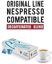 Italian Coffee Decaffeinated capsules compatible with Nespresso machines (Decaffeinated Espresso, 30 pods)