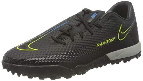 Nike Herren Phantom GT Academy TF Football Shoe, Black/Black-Cyber-Light Photo Blue, 47 EU