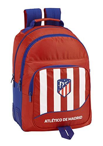 SAFTA 611845773 Atlético de Madrid Mochila Doble con cantoneras Adaptable a Carro  Roja