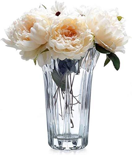Grote Diameter Transparant Glas Vaas Flowers/Droge Bloem Bloem Arrangeur for Home/Outdoor/Party Decoration Decoration zonder bloemen (Color : Small)
