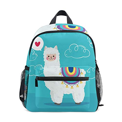 Corazón Caballo Alpaca Mochila para Preescolar Niñas Niños Toddler Kids Estudiante Mochilas para Infantiles 1-6 Años