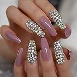 CoolNail - Herramienta de extensión de uñas postizas 3D AB gemas extra largas de gel UV para bailarina, gel UV