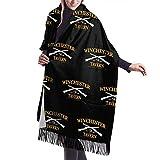 Yuanmeiju Bufanda larga de moda para mujer Winchester Tavern Crouch End Shaun Of The Dead Ladies Soft Large Cashmere Blend Scarf Warm Cashmere Skirt Elegant Shawl Wrap