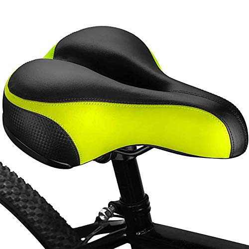 PHZ. Comfort Bike Seat Cover Cushioned Bicycle Saddle for Women Men Taillight Reflective Strip and Double Shock Absorbing Ball Saddle Universal fit Bikes