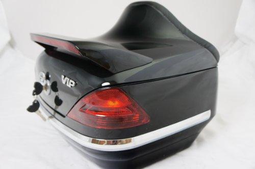 Mutazu 283900018 Vivid Black DB motorcycle rear trunk