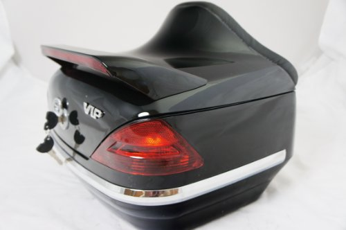Mutazu 283900018 Vivid Black DB motorcycle rear trunk