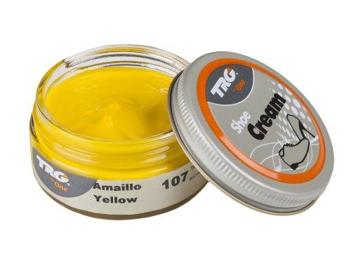 TRG Thoe One 107 - Crema para calzado y complementos de piel y piel sintética 50 ml, Amarillo (107 Yellow)