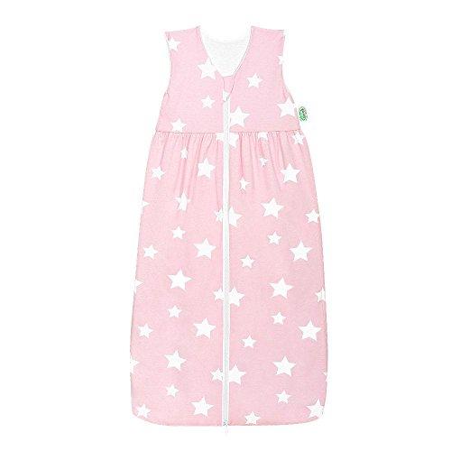 Odenwälder Jersey-Schlafsack Anni white stars rose quarz, Größe:110