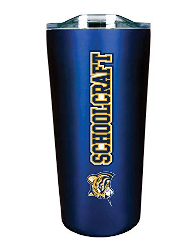 The Fanatic Group Schoolcraft College Double Walled Soft Touch Tumbler, Design-1 - Blue