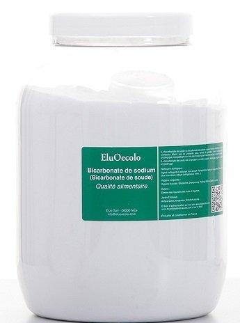 Bicarbonate de Soude 3kg - Qualité alimentaire (doseur à lintérieur) EluOecolo Made in France