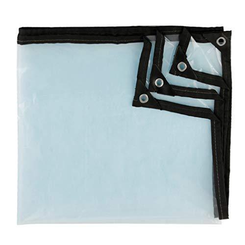 HSBAIS Bache Transparente avec oeillets - Bâches Neige et UV anti-pluie, extérieur Bache Exterieur,1x1m/3.3x3.3ft