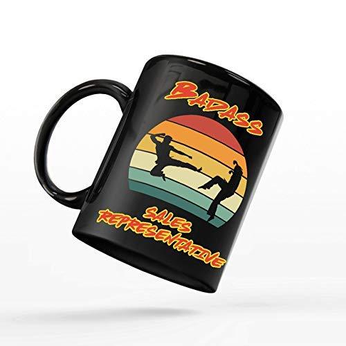 N\A Taza de café para representante de Ventas - Taza Cobra Kai - Representante de Ventas rudo compañero de Trabajo - Tazas Divertidas Regalos de un Amigo