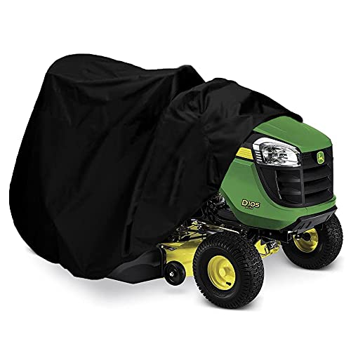 """Indeedbuy Riding Lawn Mower Cover, Waterproof Tractor Cover Fits Decks up to 54"""",Heavy Duty 420D Polyester Oxford, Durable, UV, Water Resistant Covers for Your Rider Garden Tractor 72""""L x 54""""W x 46""""H"""