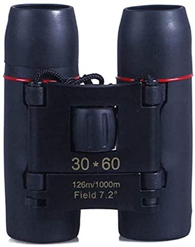WSMKSZ Binoculares Mini HD Telescopio de Gran Aumento Super Mini Tamaño de la Palma 30x60 Binoculares para Viajes de observación de Aves Conciertos de observación de Estrellas