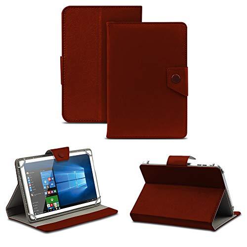 NAUC Tasche Schutz Hülle für Dell Venue 10 Pro Tablet Schutzhülle Hülle Cover Farbwahl, Farben:Braun