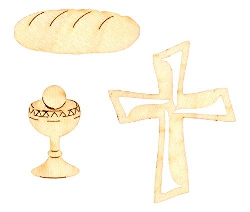 Petra's Bastel News 30-teiliges Set Christliche Kleinteile bestehend aus 3 verschiedenen Designs Holz, 18 x 12 x 3 cm