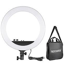 Neewer 14-Zoll Äußere dimmbare Zweifarbige LED Ring Licht 30W 3200K-5600K Ringleuchte für Foto Porträt Fotografie, Make-up, YouTube-Video-Aufnahmen (EU)