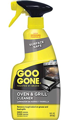 Goo Gone Oven and Grill Cleaner - 14 Ounce - Removes Tough Baked On Grease and Food Spills Surface Safe