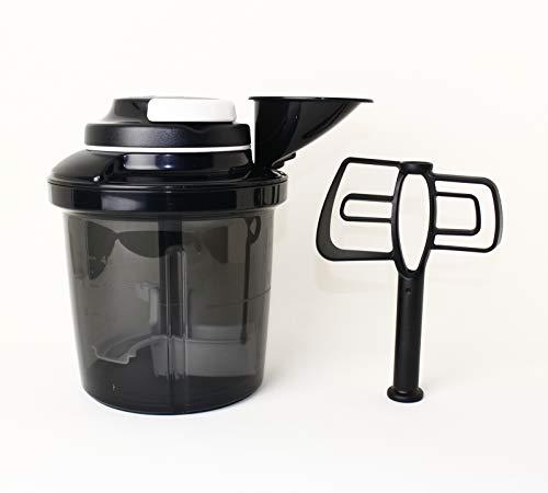 Tupperware 1,35 L schwarz D200 Extra Chef, aufschlagen, zerkleinern + Kugelschreiber