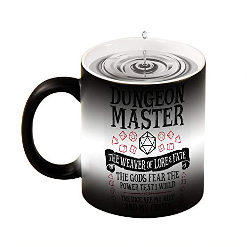 Magic Mug Heat Sensitive Dungeon Master, The Weaver of Lore & Fate - Dungeons & Dragons Funny Color Changing Coffee Mug Cup 11 OZ